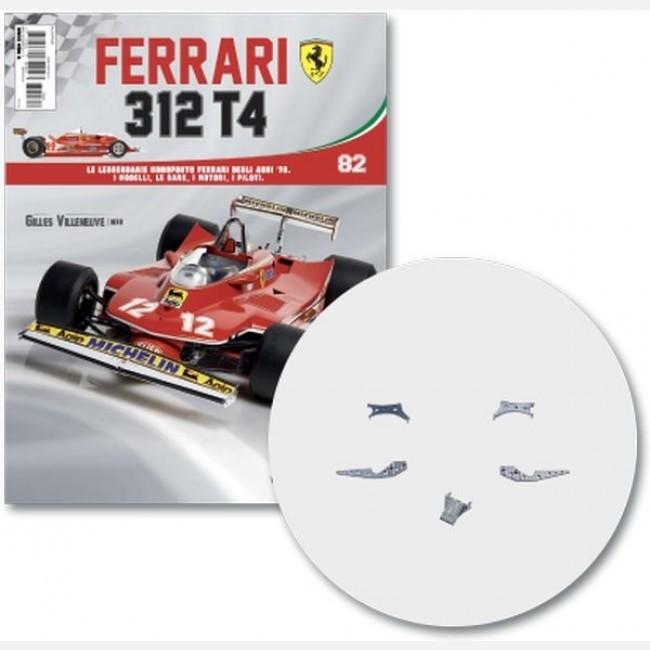 Ferrari 312 T4 in scala 1:8 (Gilles Villeneuve, 1979) Supporto sx e dx alettone post, connettore alettone post, supporto sx e dx motore