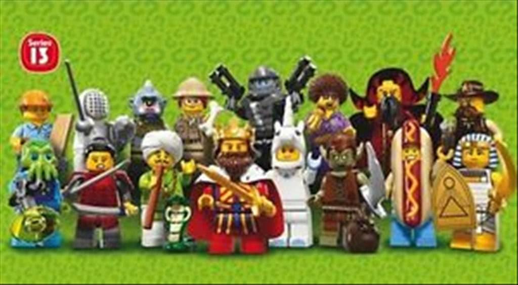 LEGO 71008 MINIFIGURES SERIE 13 SERIES conf. COMPLETA DA 60 PEZZI