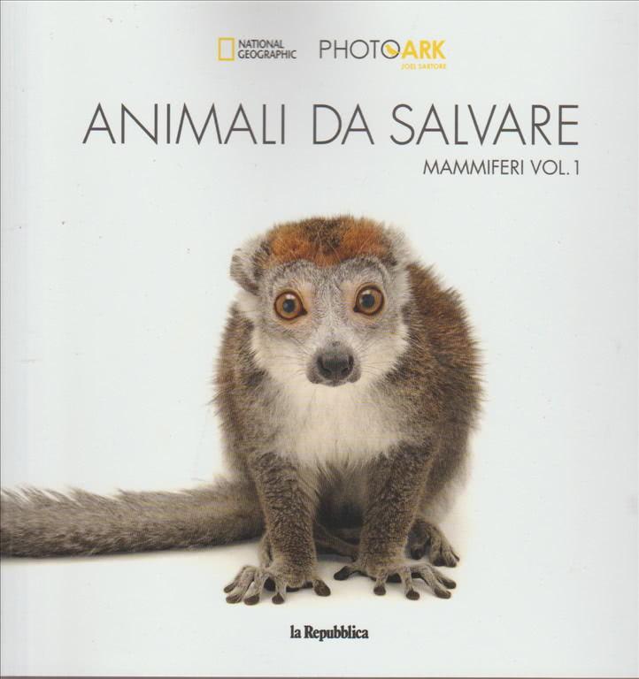 """Animali da salvare """"Mammiferi"""" vol. 1 by la Repubblica /National geographic"""
