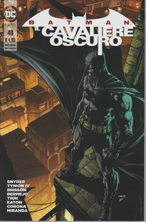 BATMAN IL CAVALIERE OSCURO. N. 49. SETTEMBRE 2016. TRISETTIMANALE