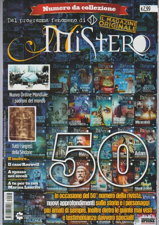 MISTERO - mensile n. 38  (50) Maggio 2017 - numero da collezione
