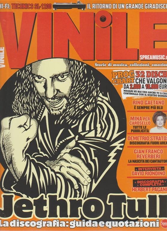 """Vinile - bimestrale n.9-Settembre2017 Jetro Tull """"Discografia guida e quotazioni"""