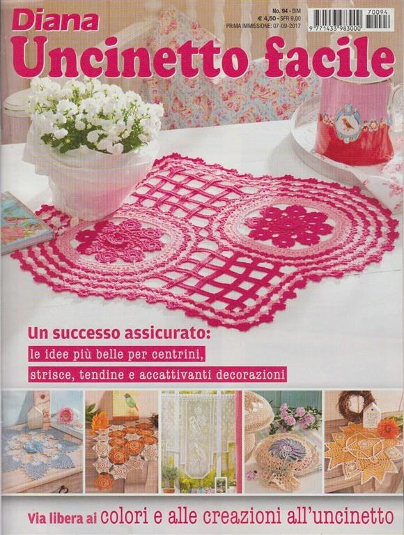 Diana Uncinetto Facile Bimestrale N 94 Settembre 2017 Edicola Shop