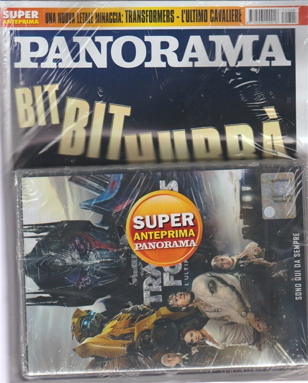 "Panorama -settim.n.45(2683)-26 Ottobre 2017+DVD Transformers""l'ultimo cavaliere"""