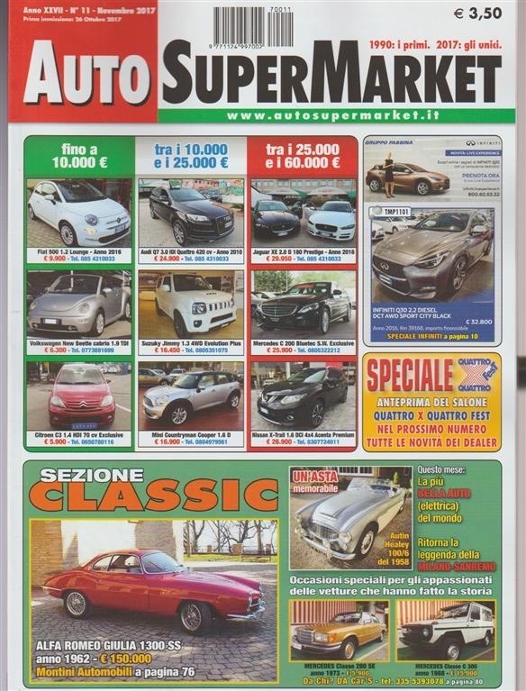 Auto Super Market - mensile n. 11 Novembre 2017 - Sezione Classic