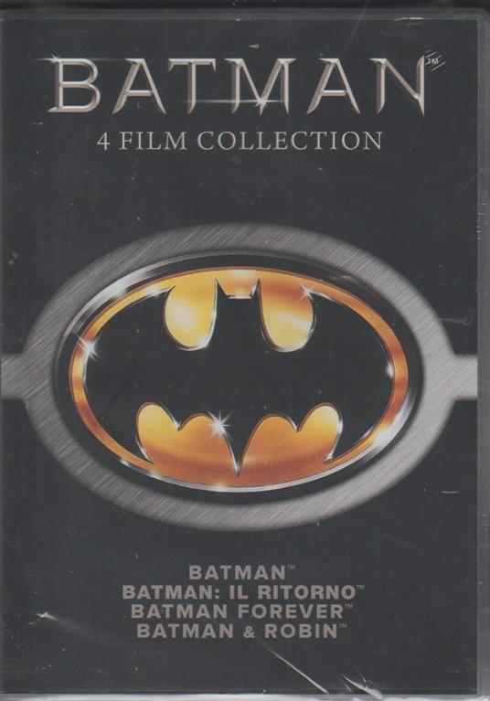 4 DVD - Batman - Batman: il ritorno - Batman Forever - Batman & Robin