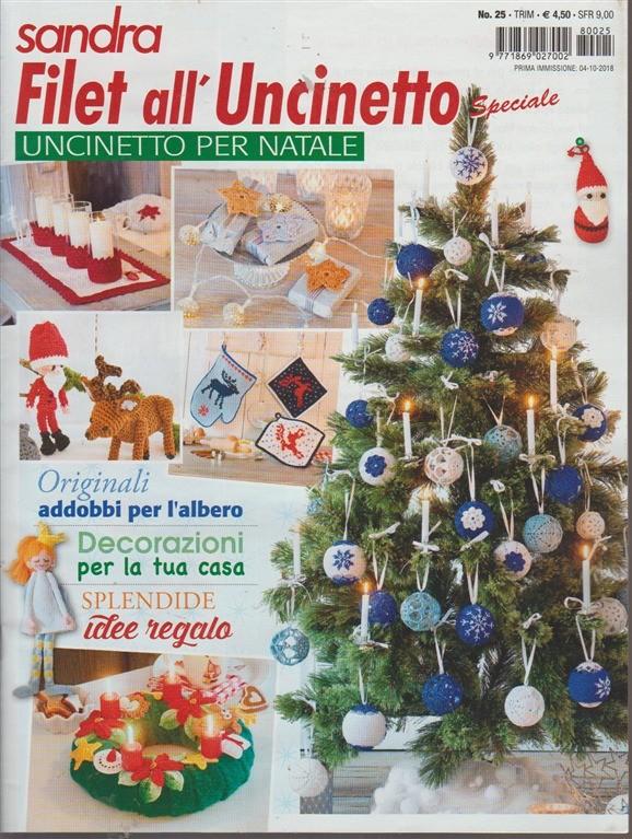 Sandra Filet Alluncinetto Speciale Uncinetto Per Natale N 25