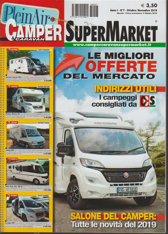 Camper E Caravan SuperMarket - n. 7 - ottobre - novembre 2018 - mensile