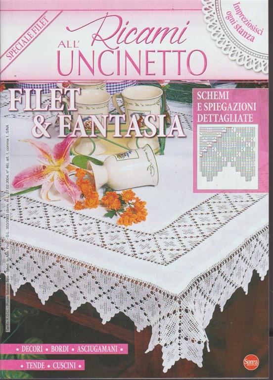 Ricami Alluncinetto Bimestrale N14 Marzo 2018 Speciale Filet