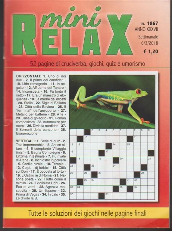 Mini Relax - settimanale n. 1867 - 3 Marzo 2018