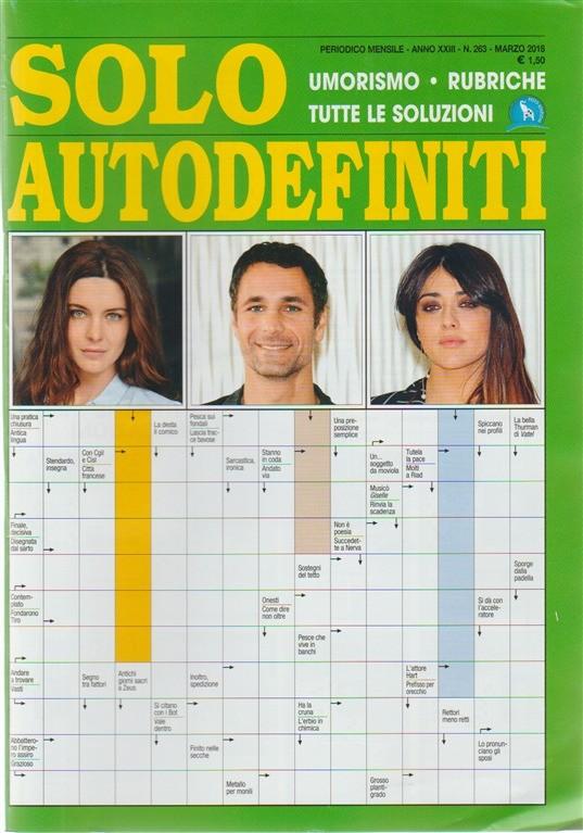 Solo Autodefiniti - mensile n. 263 Marzo 2018