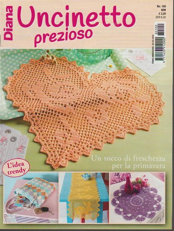 Diana Uncinetto Prezioso Bimestrale N 100 Aprile 2018 Edicola Shop