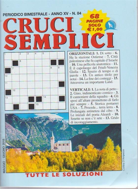 Cruci Semplici - n. 84 - periodico bimestrale - maggio  - giugno 2018