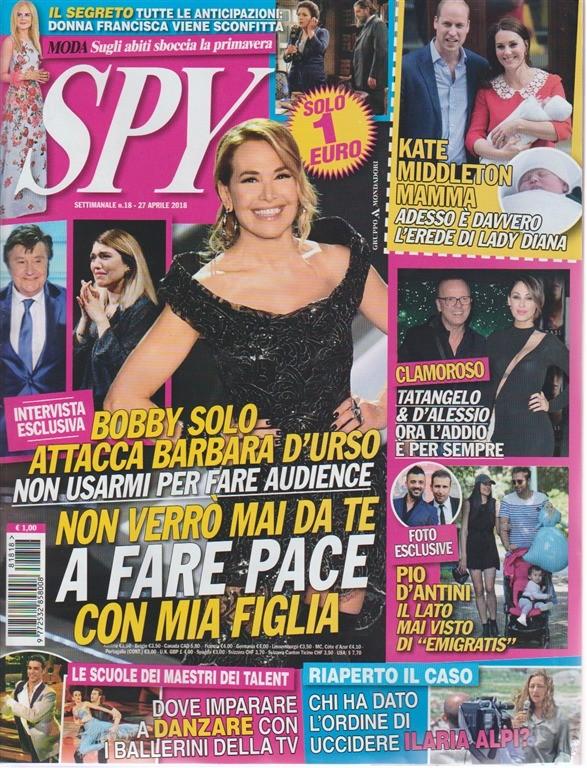 Spy. n. 18 - settimanale - 27 aprile 2018 -