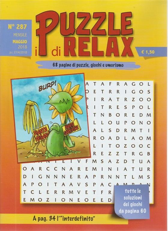 I Puzzle Di Relax n.287 - mensile maggio 2018