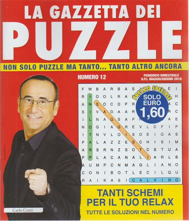 La Gazzetta dei puzzle n. 12 - periodico bimestrale - maggio - giugno 2018