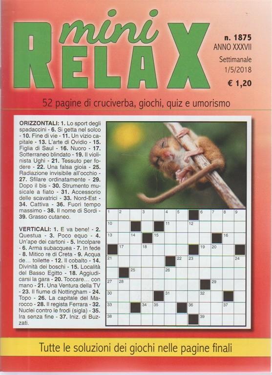 Mini Relax N. 1875 - SETTIMANALE - 1/5/2018