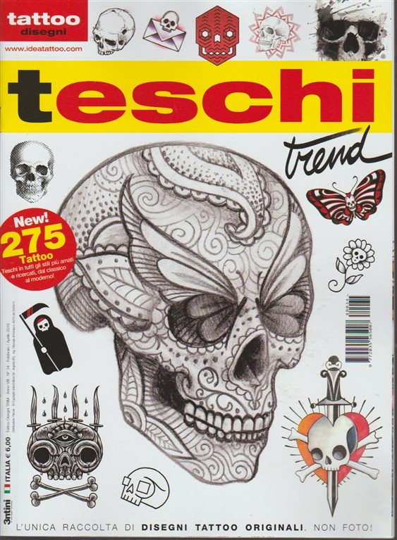 Tattoo Disegni - trimestrale n. 34 Febbraio 2018 Teschi