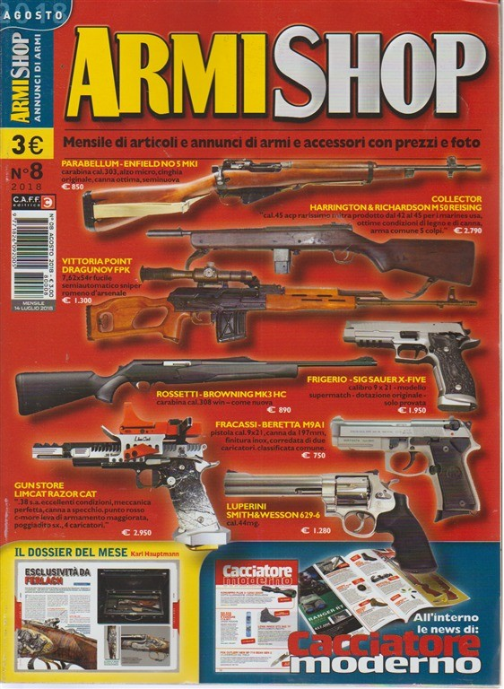 Armi Shop - n. 8 - agosto 2018 - mensile