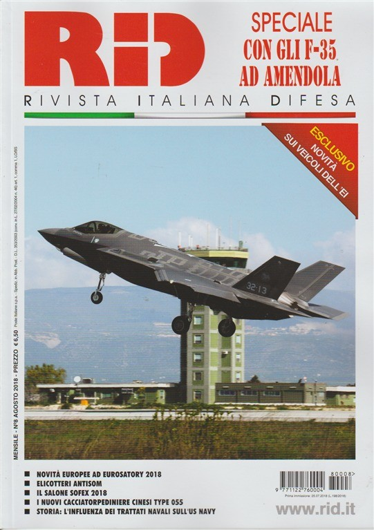 RID Rivista italiana difesa - mensile n.8 Agosto 2018 Novità sui veicoli dell'EI