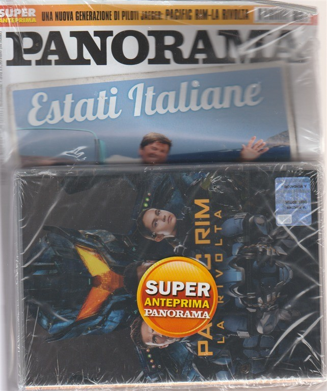 Panorama  + DVD  - Pacific rim - La rivolta - n. 31 - 19 luglio 2018 - settimanale -