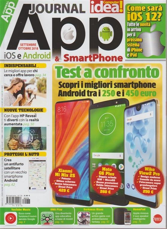 App Journal & SmartPhone - n. 78 - bimestrale - settembre - ottobre 2018