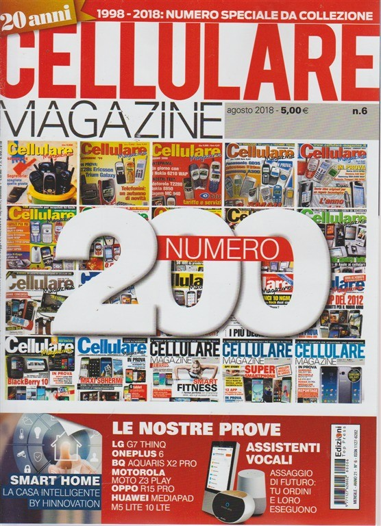 Cellulare magazine - n. 6 - agosto 2018 - mensile