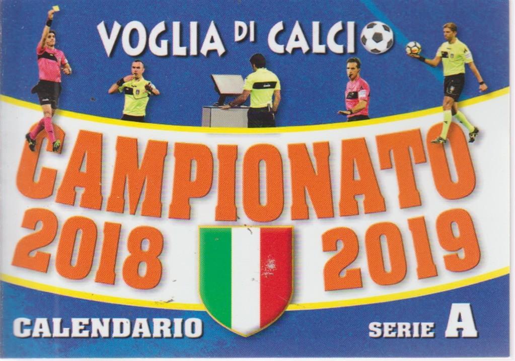 Calendario Campionato Di Calcio.Voglia Di Calcio Tascabile Campionato Di Calcio 2018 2019