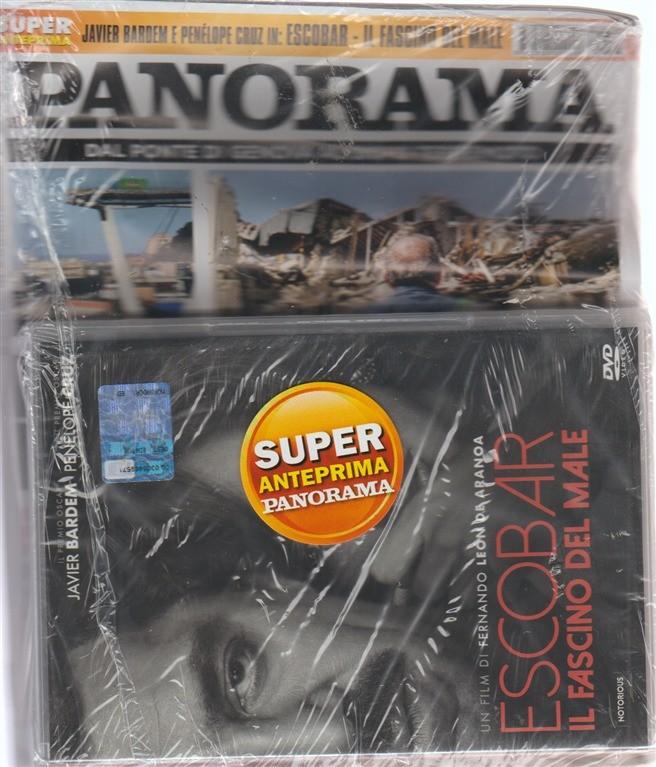 Panorama + DVD Escobar. Il fascino del male - n. 36 - 23 agosto 2018 - settimanale
