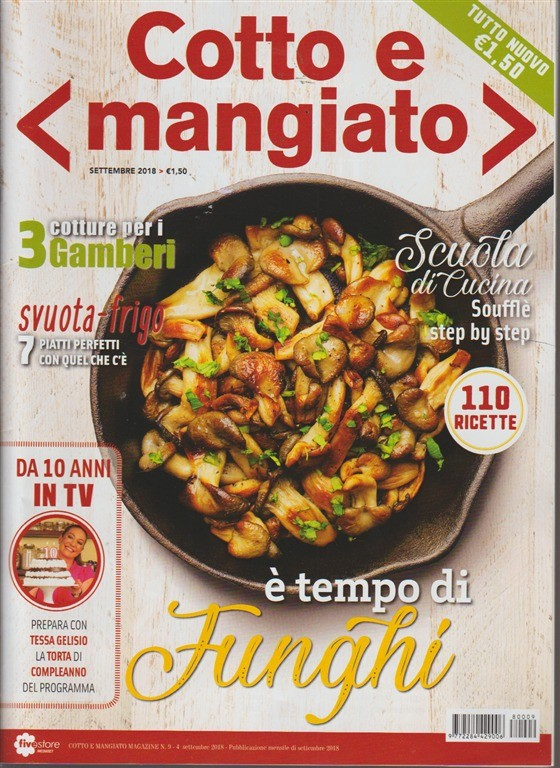 Cotto E Mangiato Tutto Nuovo N 9 Settembre 2018 Mensile