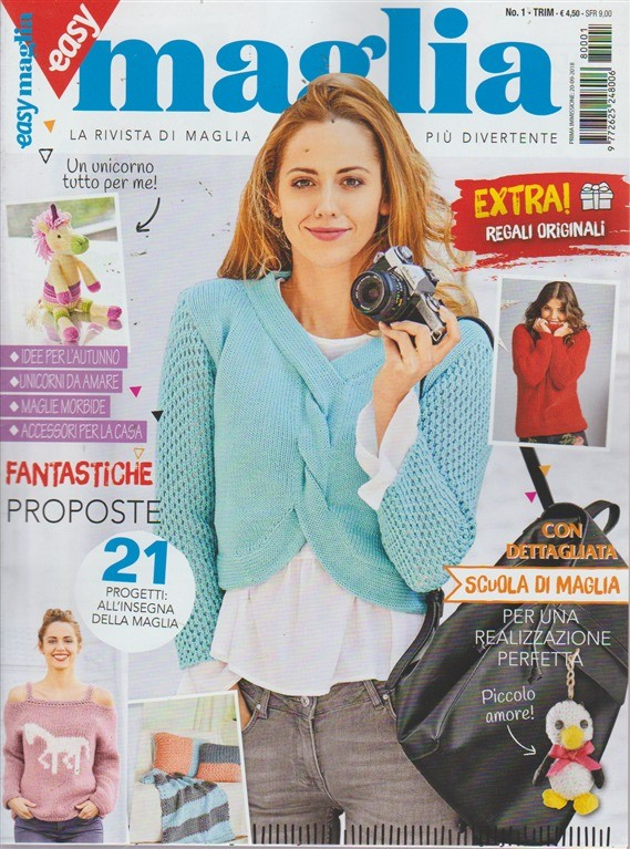 In Edicola Maglia.Easy Maglia N 1 Trimestrale 20 9 2018 Edicola Shop