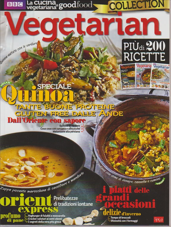 VEGETARIAN COLLECTION. N. 1. BIMESTRALE.  BBC LA CUCINA VEGETARIANA GOOD FOOD