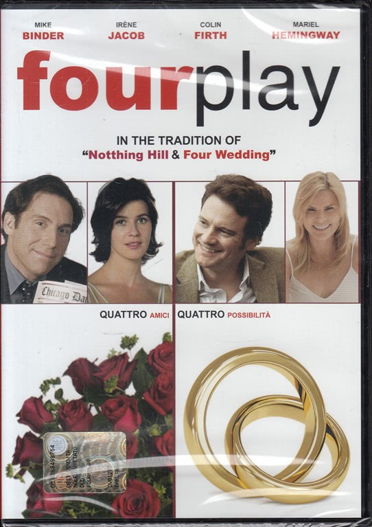 Four Play di Mike Binder. Con Mike Binder, Colin Firth, Mariel Hemingway, Irène Jacob, Stephen Fry (DVD)