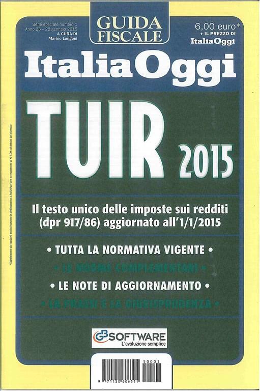 TUIR 2015 Guida fiscale di Italia Oggi