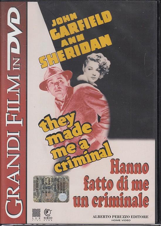 Hanno fatto di me un criminale - John Garfiield and Sheridan (DVD)