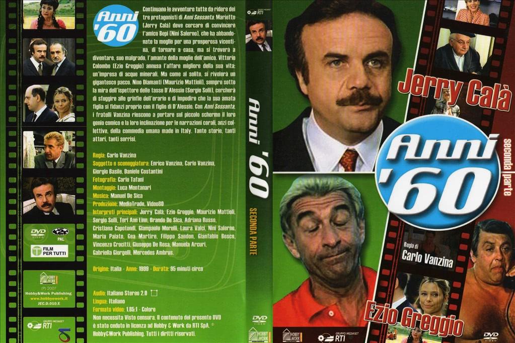 DVD ANNI '60 - SECONDA PARTE (JERRY CALà, EZIO GREGGIO, CARLO VANZINA)