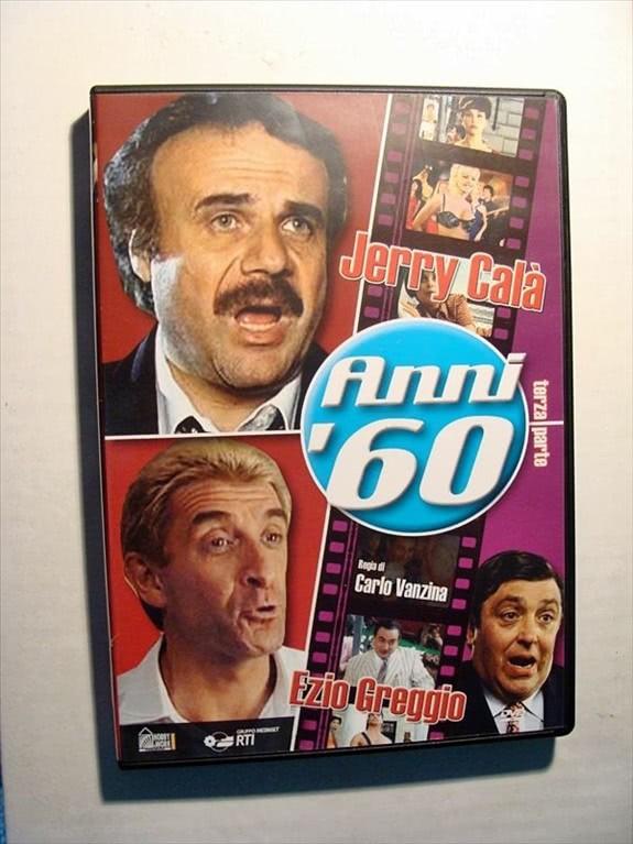 DVD ANNI '60 - TERZA PARTE (JERRY CALà, EZIO GREGGIO, CARLO VANZINA)