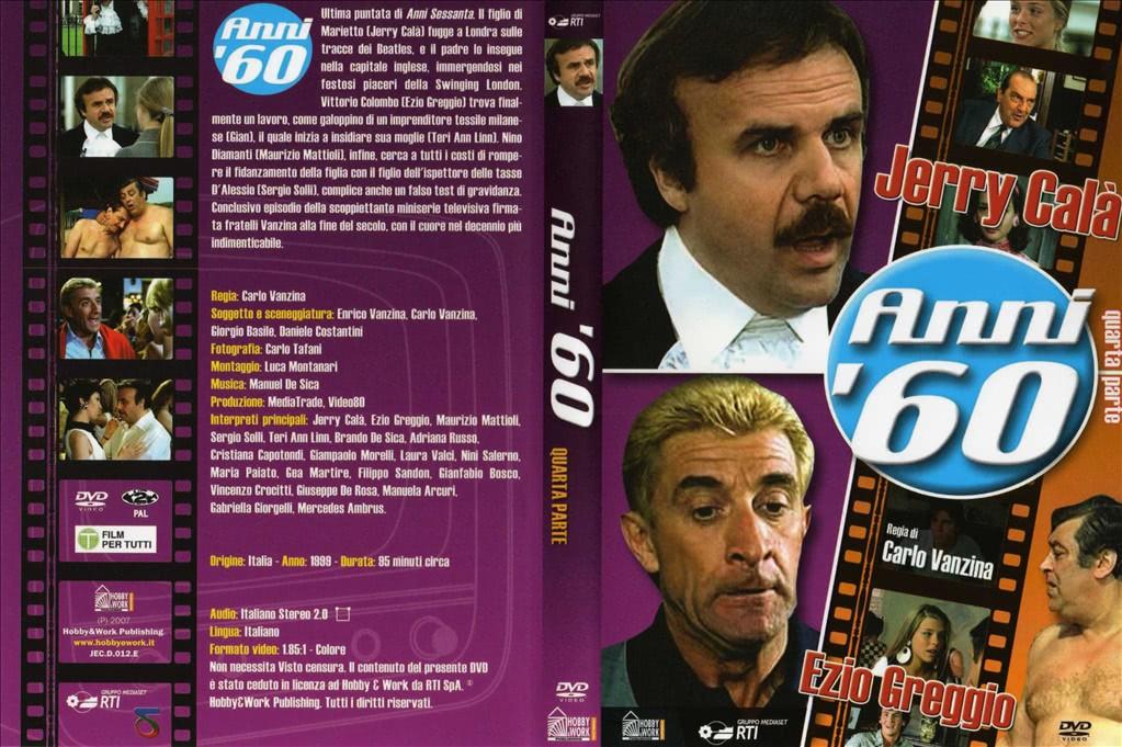 DVD ANNI '60 - QUARTA PARTE (JERRY CALà, EZIO GREGGIO, CARLO VANZINA)