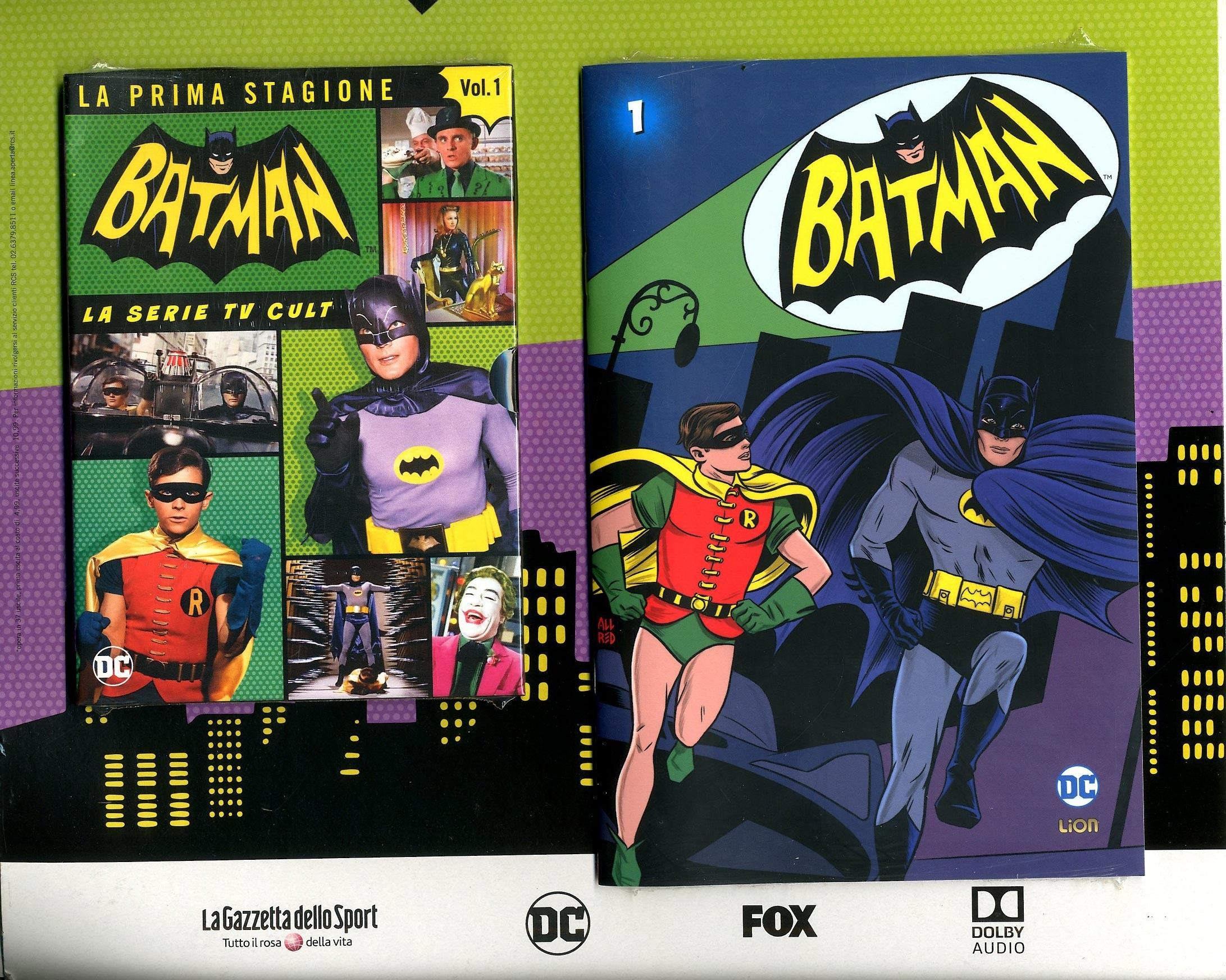 Batman '66 (Dvd + Fumetto) - N° 1 - Batman '66 - Rw Lion