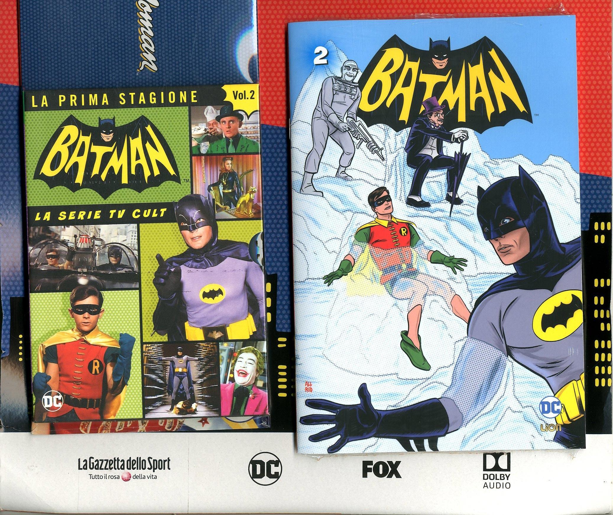 Batman '66 (Dvd + Fumetto) - N° 2 - Batman '66 - Rw Lion