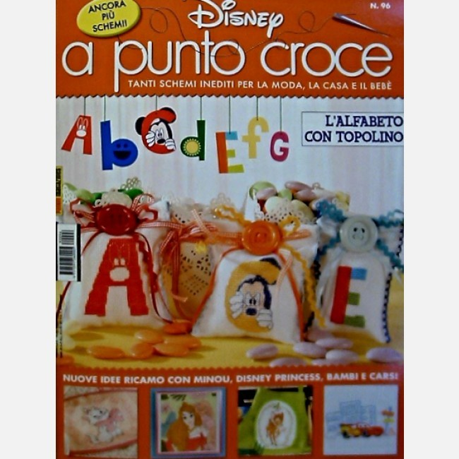 Disney A Punto Croce L Alfabeto Con Topolino Italiano Edicola Shop