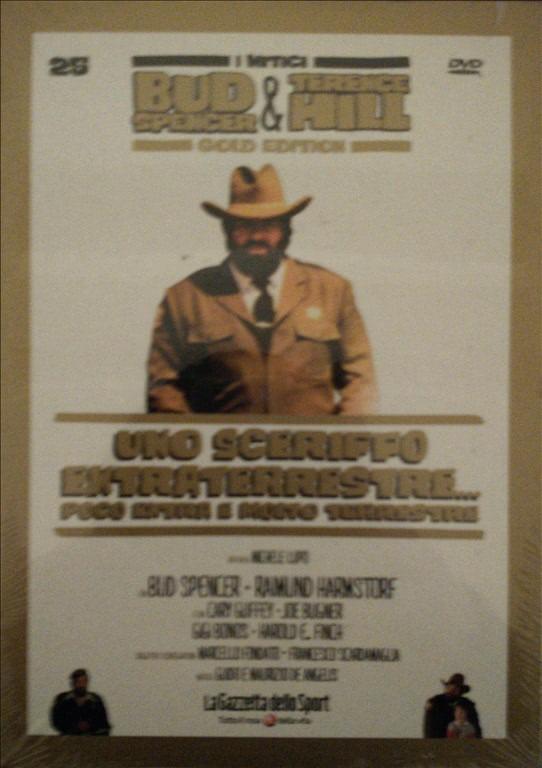 I MITICI BUD SPENCER E TERENCE HILL GOLD EDITION n.25 - DVD UNO SCERIFFO EXTRA TERRESTRE, POCO EXTRA MOLTO TERRESTRE