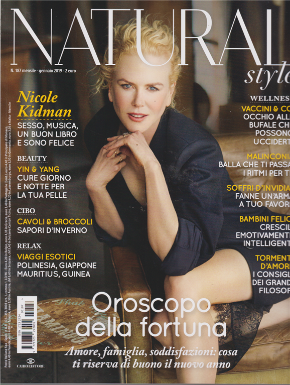 Natural style , n. 187 , mensile , gennaio 2019 ,