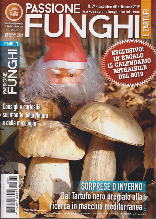 Calendario Funghi.Passione Funghi E Tartufi N 89 Mensile Dicembre 2018
