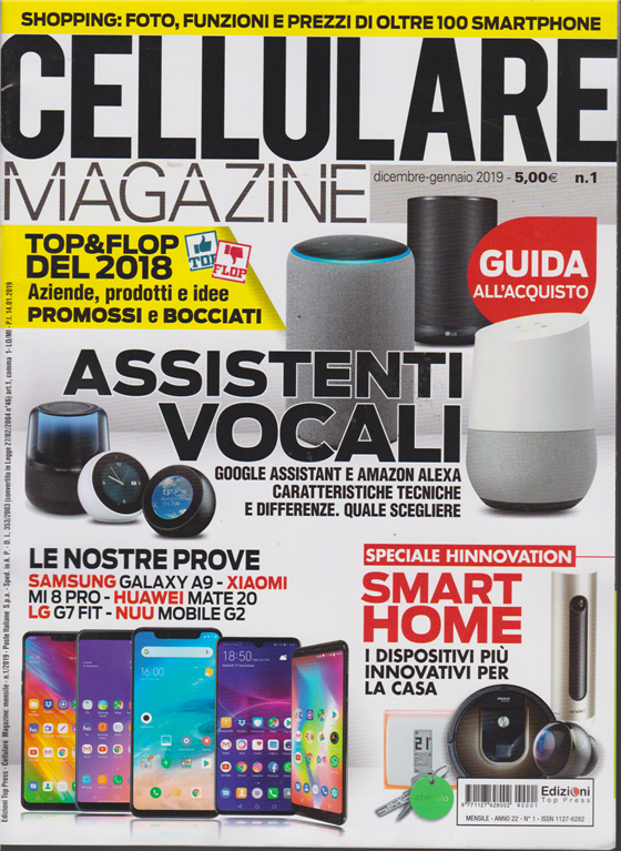 Cellulare Magazine N 1 Dicembre Gennaio 2019 Mensile