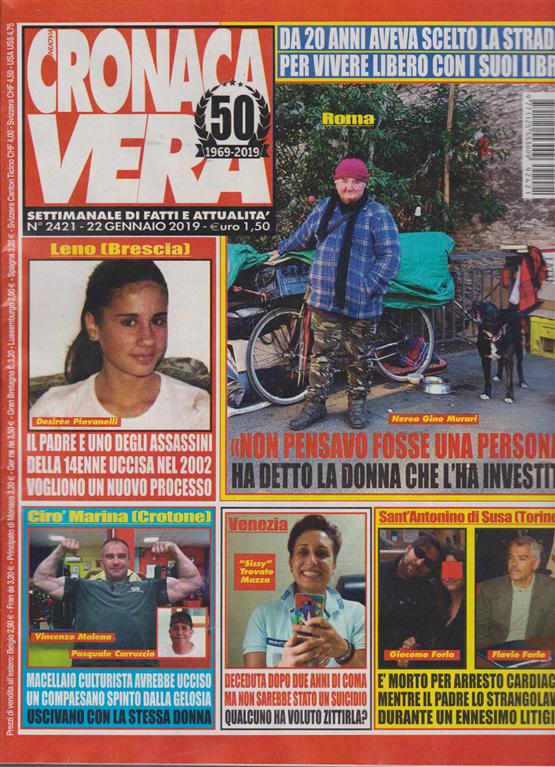 N.Cronaca Vera - n. 2421 - 22 gennaio 2019 - settimanale di fatti e attualità