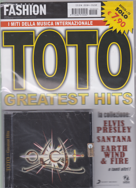 Music Fashion Var.06 - Cd Toto Greatest Hits - n. 2 - bimestrale - febbraio 2019 - rivista + cd