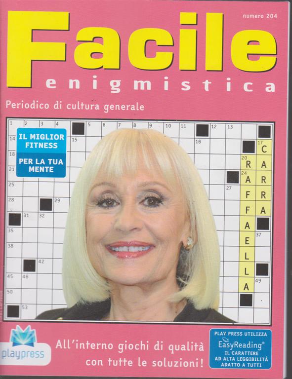 Facile Enigmistica - n. 204 - bimestrale - 11/11/2019 -