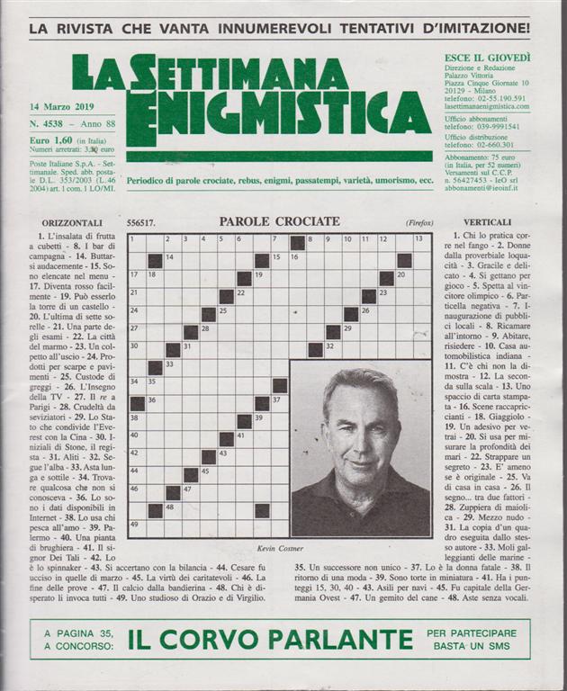 La Settimana Enigmistica - n. 4538 - 14 marzo 2019 - settimanale