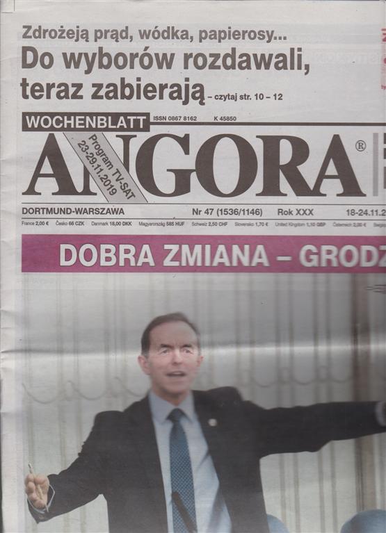 Angora - n. 47 - 18/24/11/2019 - in lingua polacca